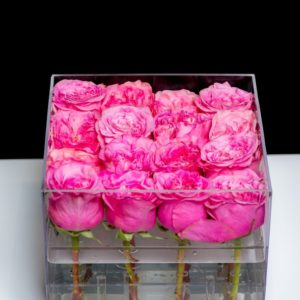 16 stem acrylic rose box