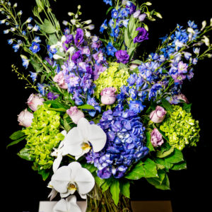 Signature Bouquet Hydrangea, lisianthus, roses and orchids
