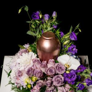 Urn Bereavement floral pillow