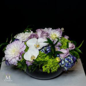 Hydrangea, Dahlia and roses
