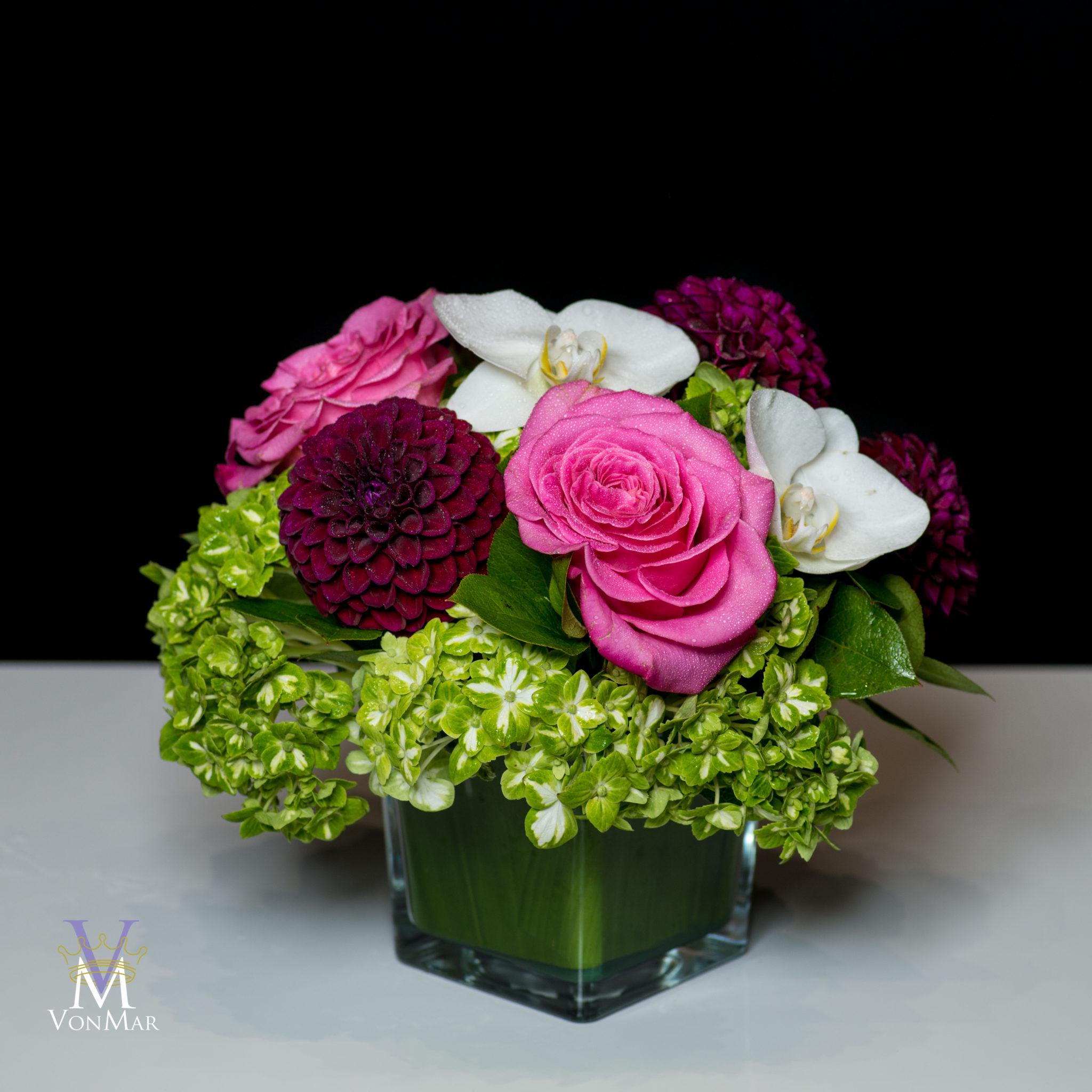 Hydrangea, Garden Roses and Dahlias